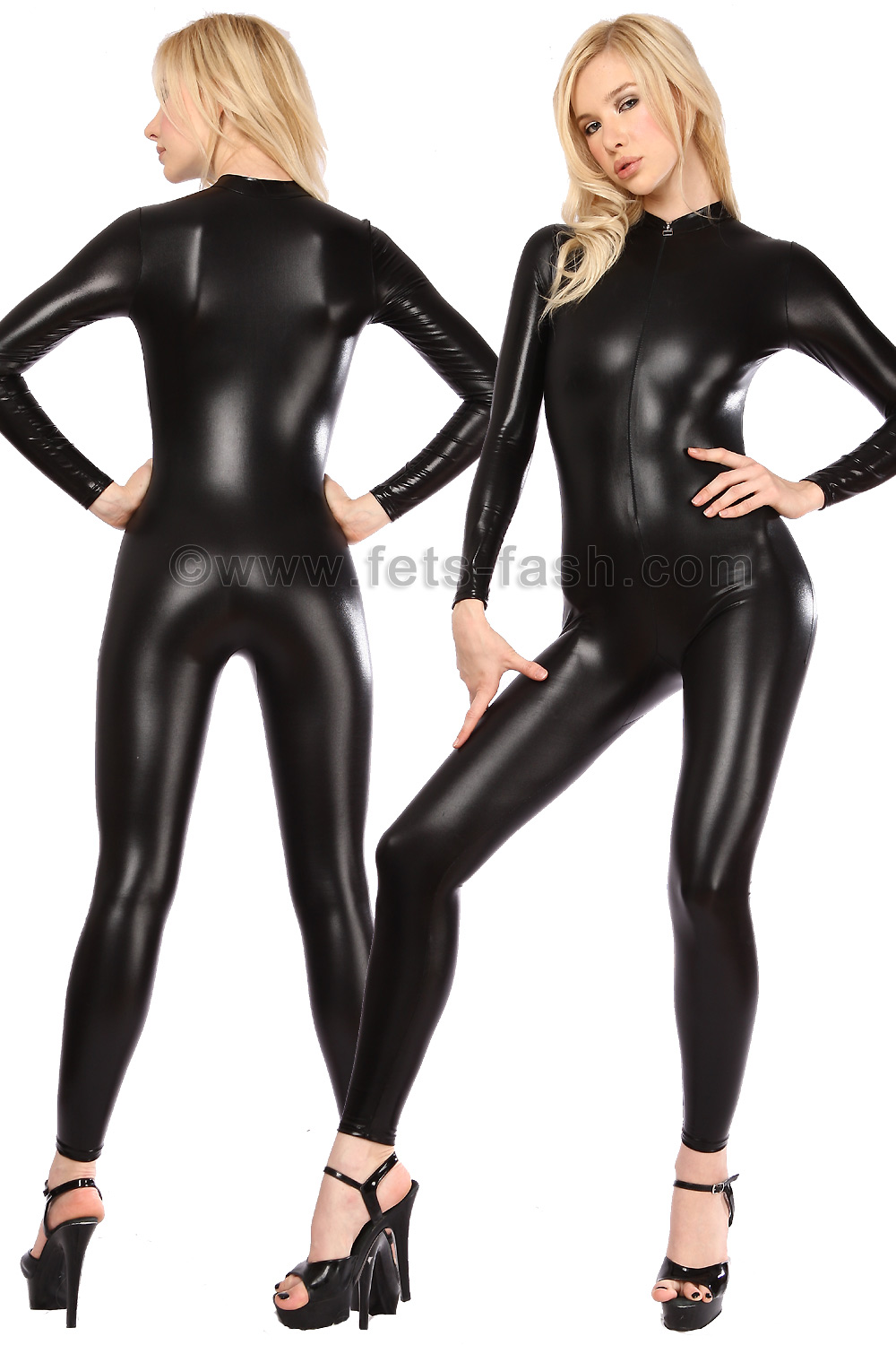 Catsuit With Front Zip Fastener Into Shiny Colors Eur 99