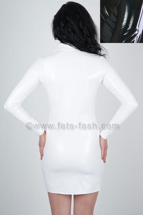 Kurzes Kleid Langarm mit Front-Reißverschluss in ...